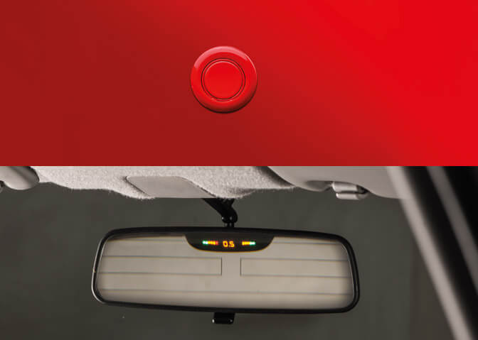 Parking Sensors with Display on IRVM