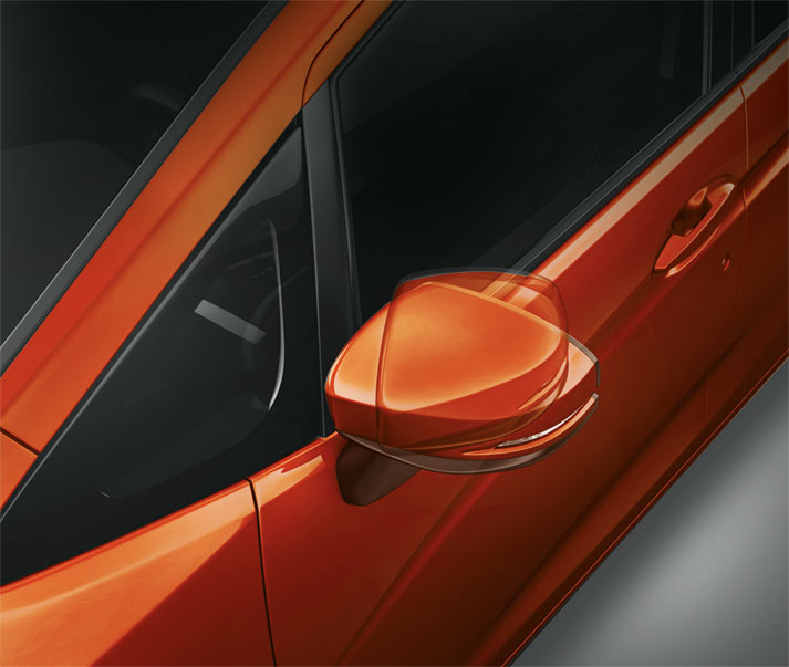 Electrically Adjustable & Foldable Outside Mirror with Turn Indicator