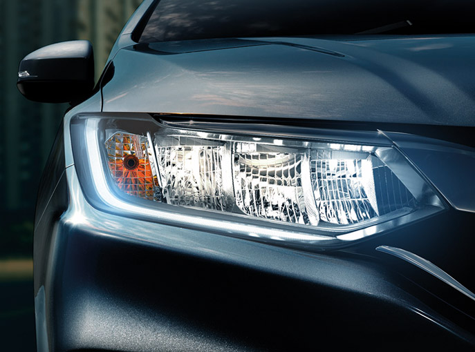 LED Head Lamp with LED DRL