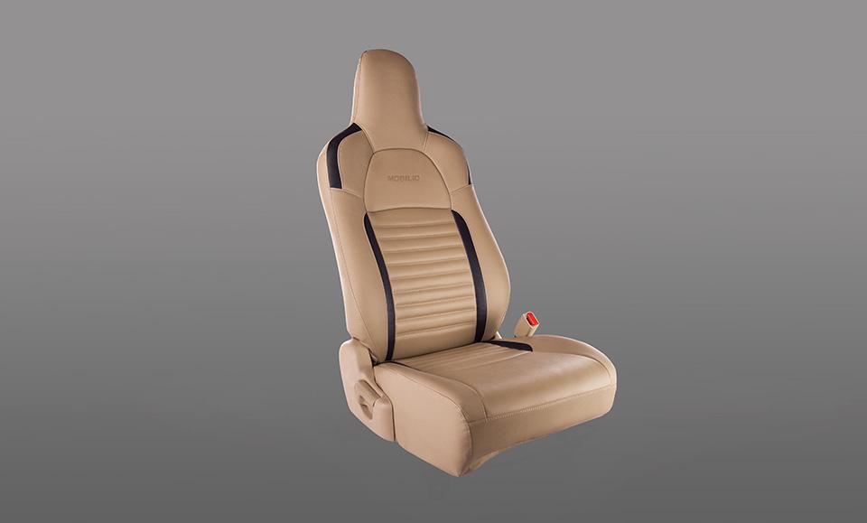 Seat Cover- PVC Black Stripes