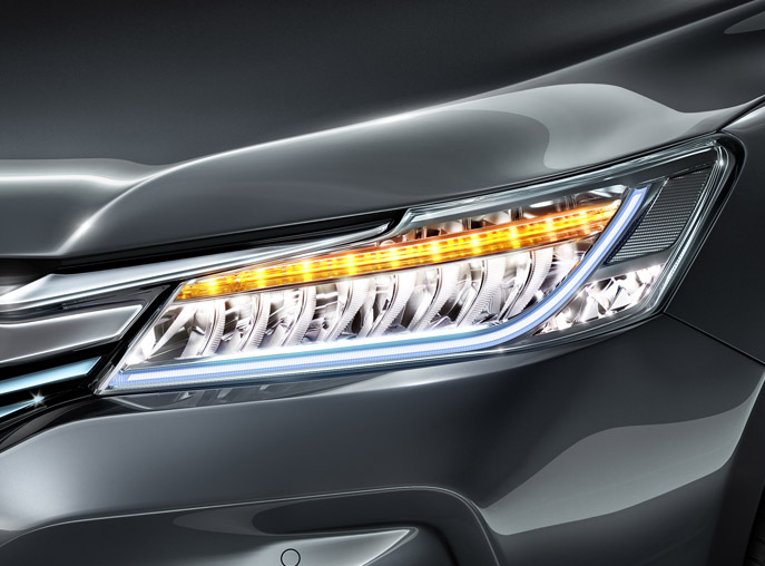 Automatic led headlamps with integrated LED DRL