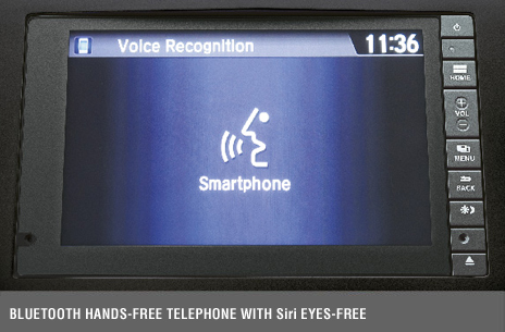 Bluetooth® Handsfree Telephone With Siri® Eyes-Free