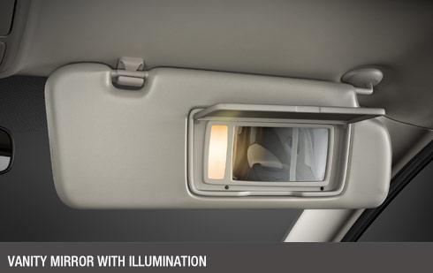 Vanity Mirror With Illumination