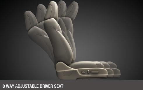 8 Way Adjustable Driver Seat