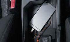 USB Port & Power Outlet in Armrest